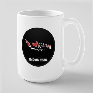 Flag Map of Indonesia Large Mug