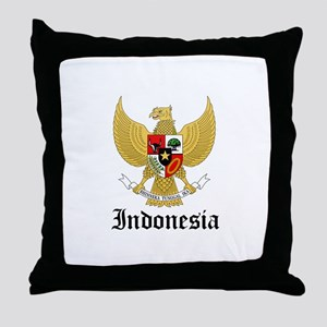 Indonesian Coat of Arms Seal Throw Pillow
