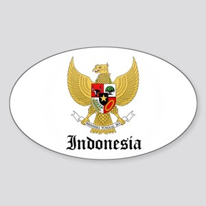 Indonesian Coat of Arms Seal Oval Sticker