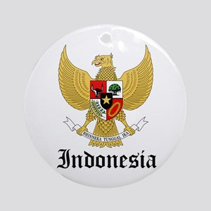 Indonesian Coat of Arms Seal Ornament (Round)