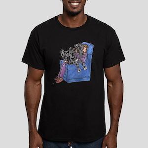 NMrl Chair Hug Men's Fitted T-Shirt (dark)