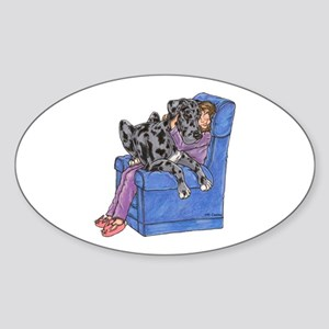 NMrl Chair Hug Oval Sticker