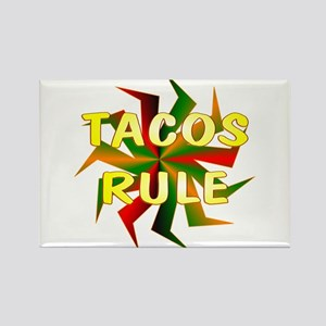 Tacos Rectangle Magnet