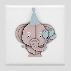 Baby elephant party Tile Coaster