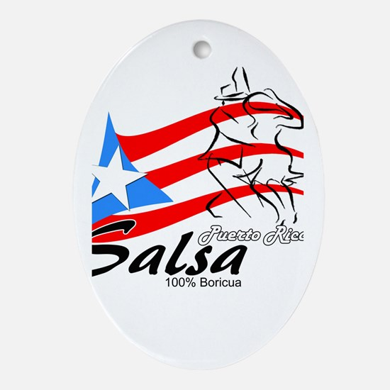 Unique Salsa Oval Ornament