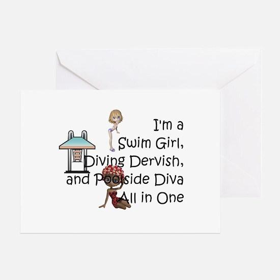 Swim Diva Greeting Card