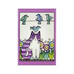 BIRD BRAIN No. 2...Cat Lover Rectangle Magnet