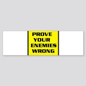 ENEMIES Bumper Sticker