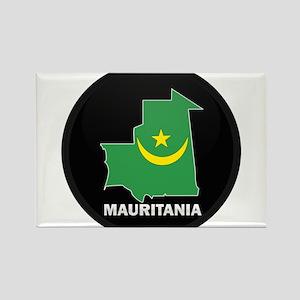 Flag Map of Mauritania Rectangle Magnet