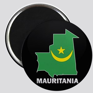 Flag Map of Mauritania Magnet