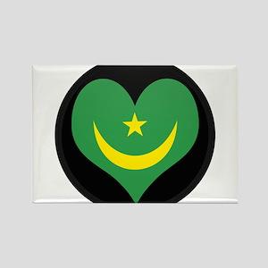 I love Mauritania Flag Rectangle Magnet