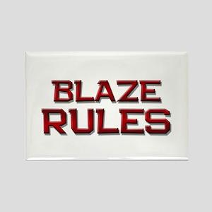 blaze rules Rectangle Magnet