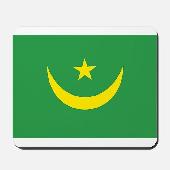 Mauritania Flag Mousepad