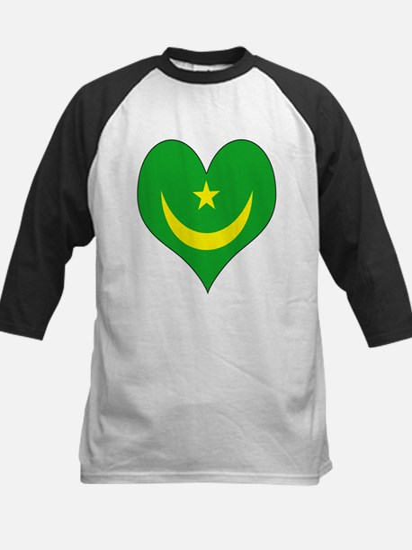 I Love Mauritania Kids Baseball Jersey
