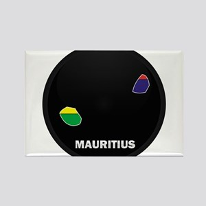 Flag Map of Mauritius Rectangle Magnet