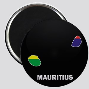 Flag Map of Mauritius Magnet