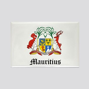 Mauritiusn Coat of Arms Seal Rectangle Magnet