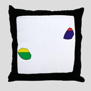 Mauritius Flag Map Throw Pillow