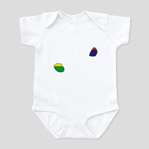 Mauritius Flag Map Infant Bodysuit