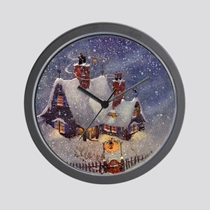 Vintage Christmas North Pole Wall Clock