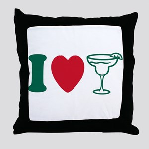 I Love Margaritas Throw Pillow