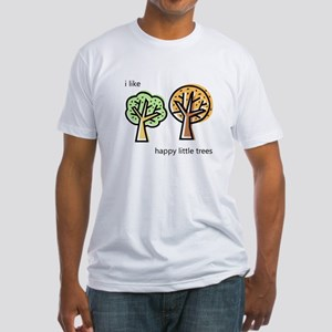 """Happy Trees"" Fitted T-Shirt"