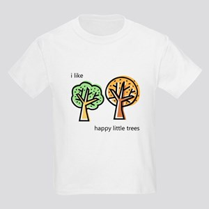"""Happy Trees"" Kids Light T-Shirt"