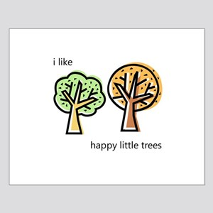 """Happy Trees"" Small Poster"