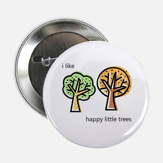 """""""Happy Trees"""" 2.25"""" Button"""