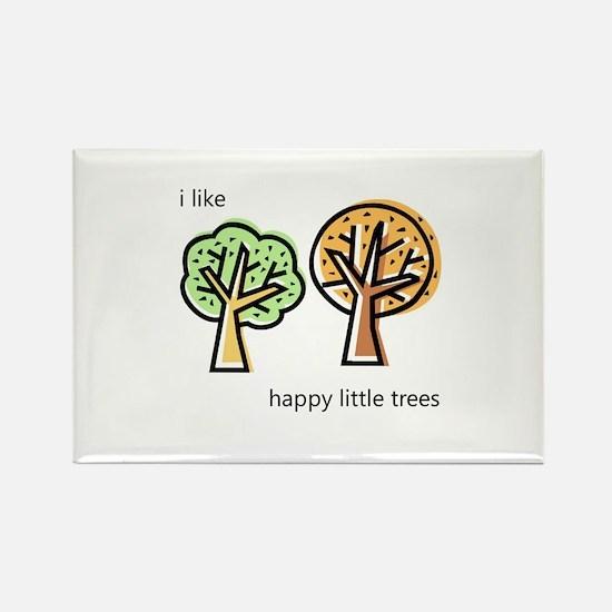 """Happy Trees"" Rectangle Magnet"