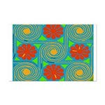 Abstract Flowers 09 Poster Print