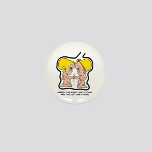 Blonde EGGBERT Left One Mini Button