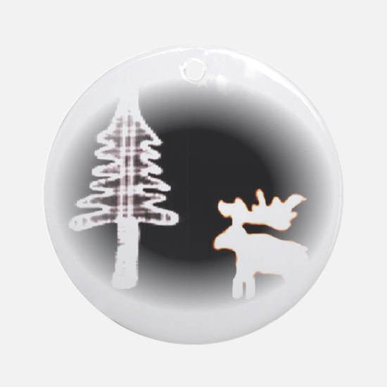Moose Moon Ornament (Round)