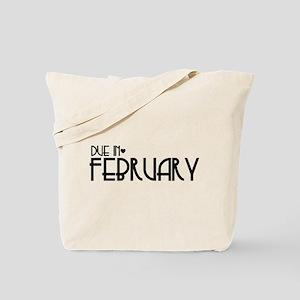B&W Urban Heart Due February Tote Bag