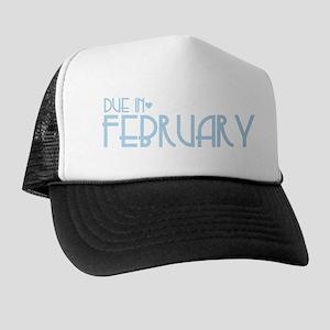 Blue Urban Heart Due February Trucker Hat