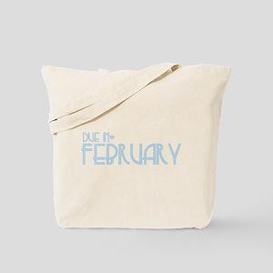 Blue Urban Heart Due February Tote Bag