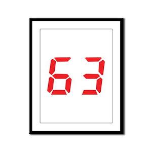 63 sixty-three red alarm cloc Framed Panel Print