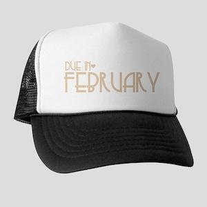 Orange Urban Heart Due February Trucker Hat