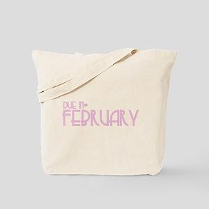 Pink Urban Heart Due February Tote Bag