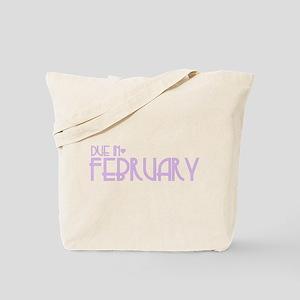 Purple Urban Heart Due February Tote Bag