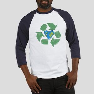 Recycle Earth Heart Baseball Jersey