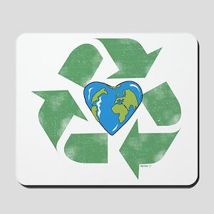 Recycle Earth Heart Mousepad