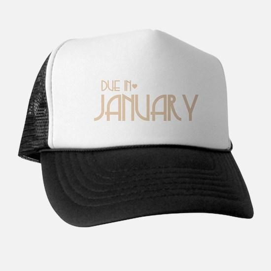 Orange Urban Heart Due January Trucker Hat