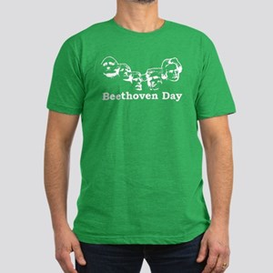 Beethoven Day Men's Fitted T-Shirt (dark)