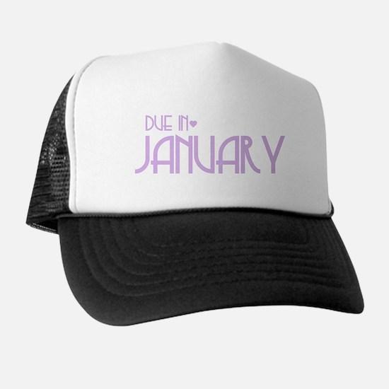 Purple Urban Heart Due January Trucker Hat