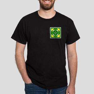 Green Flower Design Dark T-Shirt