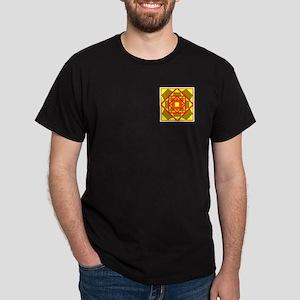 Brown Shield Design Dark T-Shirt