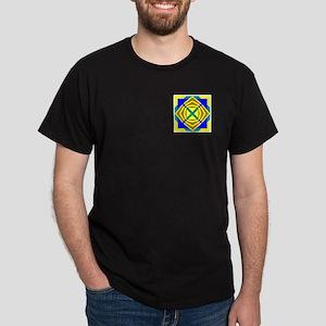 Golden Flower Design Dark T-Shirt