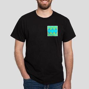 Blue Honeycomb Design Dark T-Shirt