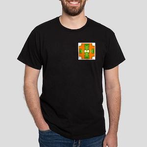 Green Triangles Design Dark T-Shirt